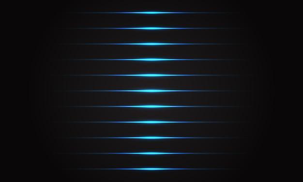 Linha azul abstrata luz no fundo futurista de tecnologia futurista de sombra preta.