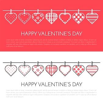 Linha banner vertical para dia dos namorados e tema de data.