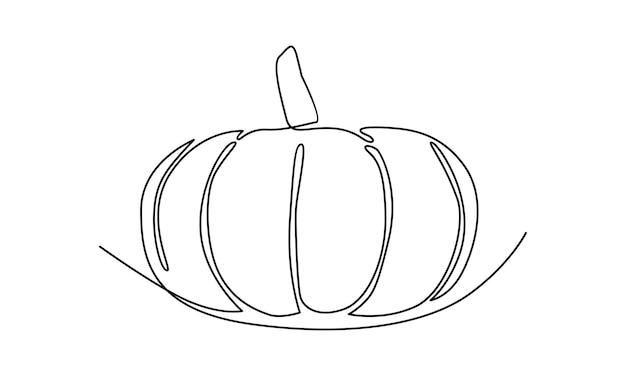 Linha contínua de ilustração de abóbora