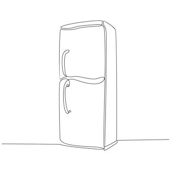 Linha contínua de vetor de máquina de geladeira