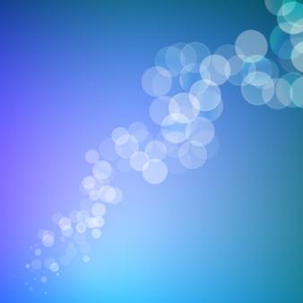 Linha de brilhos bokeh abstrato no fundo desfocado