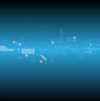 Linha de circuito eletrônico abstrato