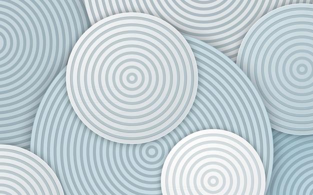 Linha de círculo abstrato nas camadas de fundo branco