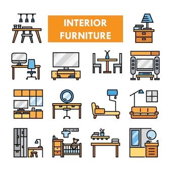 Linha de cor de mobiliário interior
