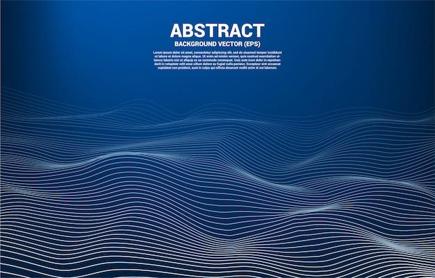 Linha de curva de contorno digital e acene com estrutura de arame. abstrato para o conceito de tecnologia futurista 3d
