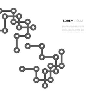 Linha de design mínimo e ponto de conexão de rede
