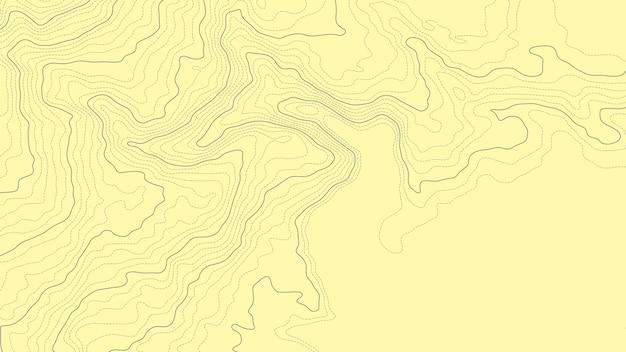 Linha de elevação topográfica abstrata do mapa de contorno