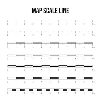Linha de escala do mapa