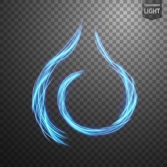 Linha de fogo azul abstrata de luz