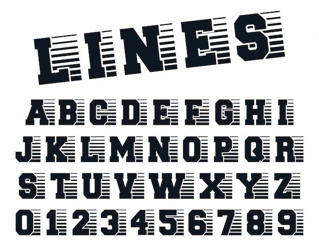 Linha de fonte do alfabeto