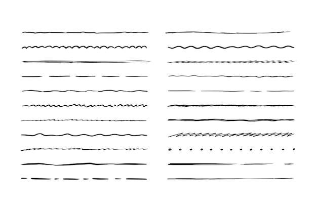Linha de forma áspera desenhada à mão