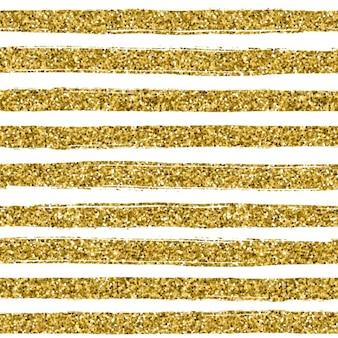 Linha de glitter dourado textura no fundo branco padrão sem emenda no estilo do ouro do projeto do vetor fundo da celebração metálico