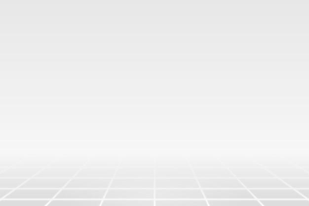 Linha de grade branca em um fundo cinza