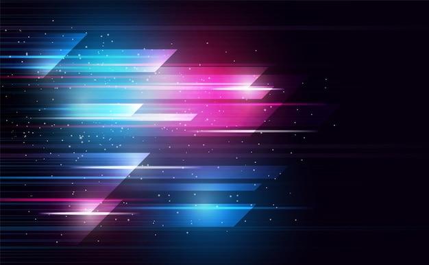 Linha de iluminação de grade de espectro abstratacor de fundo abstrato e ilustração
