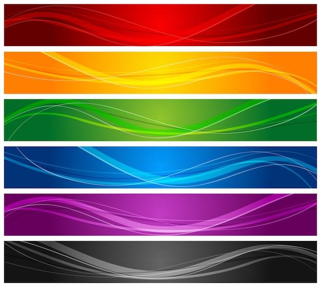 Linha de linhas onduladas coloridas
