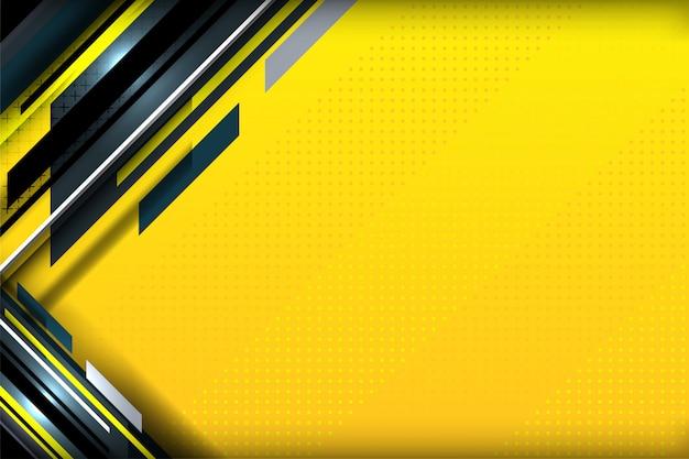 Linha de listras fundo amarelo