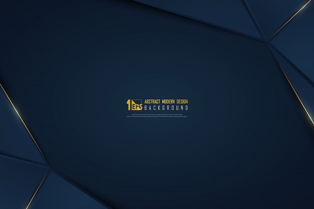 Linha de luxo abstrato dourado em fundo gradiente azul modelo