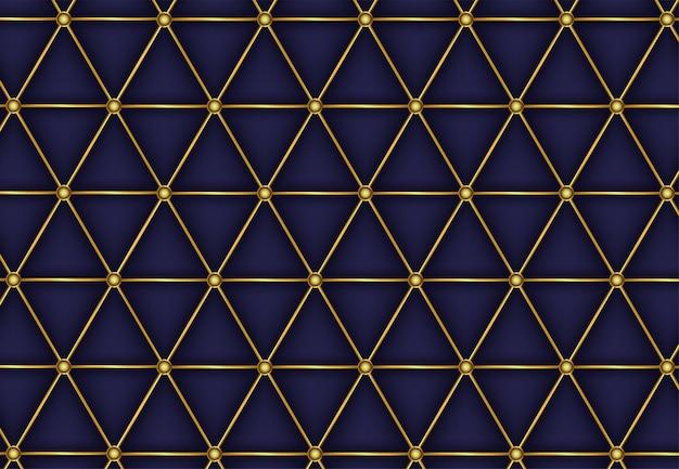 Linha de luxo dourado poligonal padrão abstrato