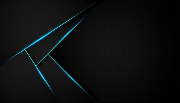 Linha de luz abstrata azul em fundo preto
