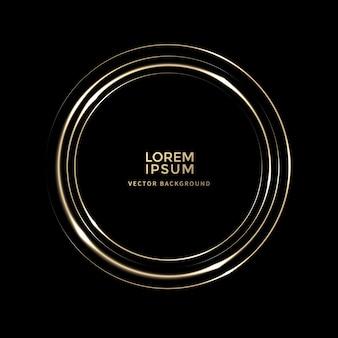 Linha de luz espiral dourada brilhante vector