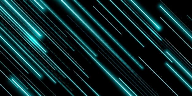 Linha de luz neon diagonal