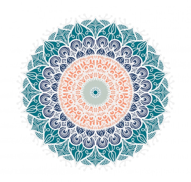 Linha de mandala colorida