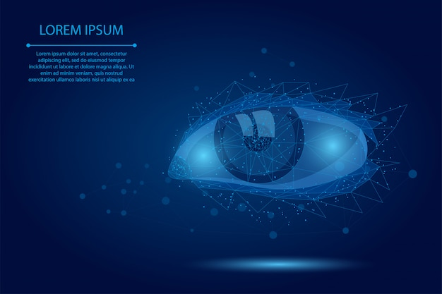 Linha de mistura abstrata e correção de visão a laser de ponto. tecnologia de cirurgia de operação moderna de íris poli baixa