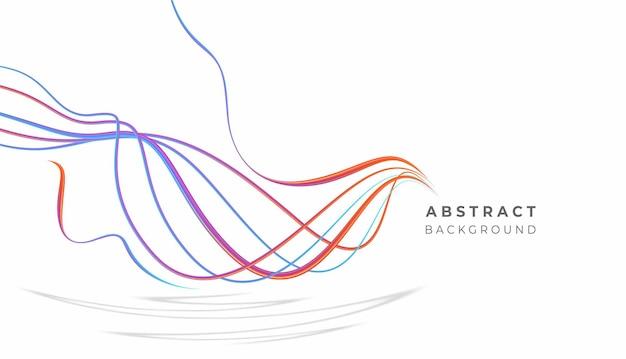 Linha de onda de arco-íris abstrato com espaço de seu texto, ilustração vetorial.