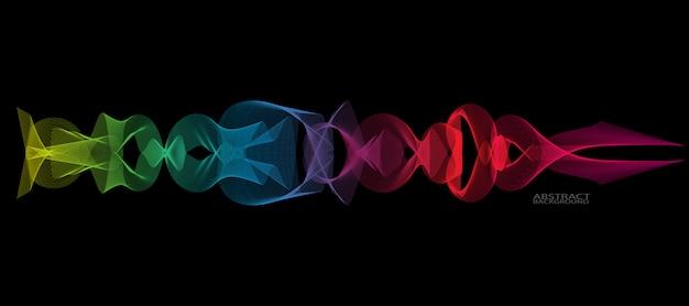 Linha de onda suave abstrata