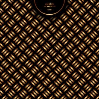 Linha de ouro bold (realce) padrão cruzado geométrico abstrato