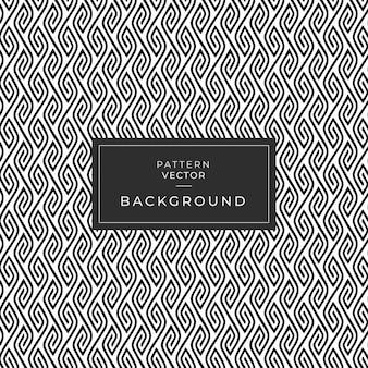 Linha de padrão sem emenda geometria de textura de folha preto e branco