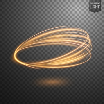 Linha de redemoinho de ouro abstrata de luz