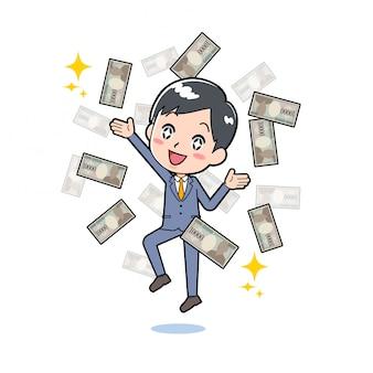 Linha de saída businessman_flying-money
