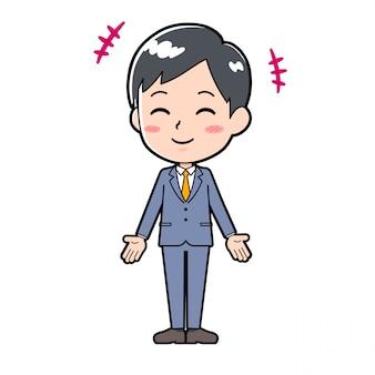 Linha de saída businessman_smile