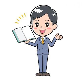 Linha de saída empresário livro apresentação