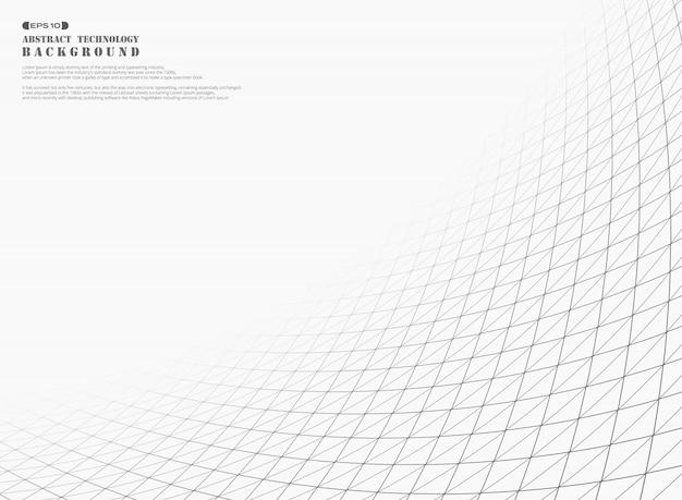 Linha de tiras abstratas de fundo quadrado padrão geométrico