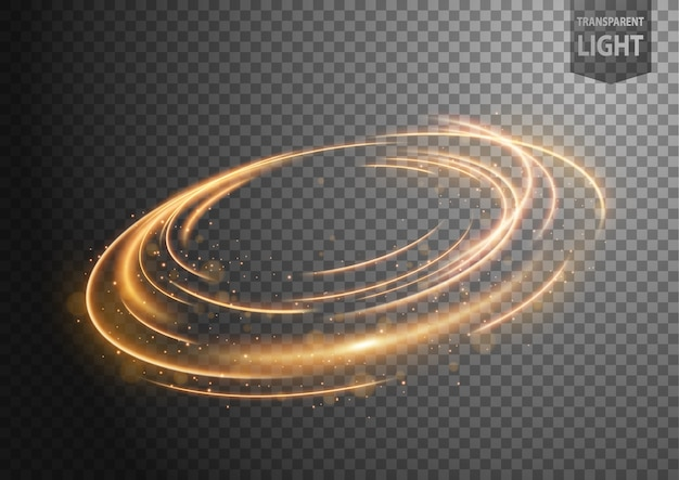 Linha de vento de ouro abstrata de luz