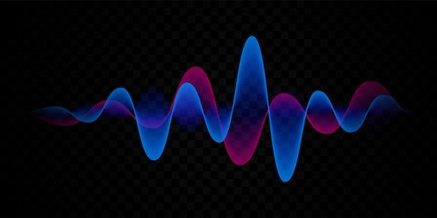 Linha de voz de onda sonora ou abstrato de pulso
