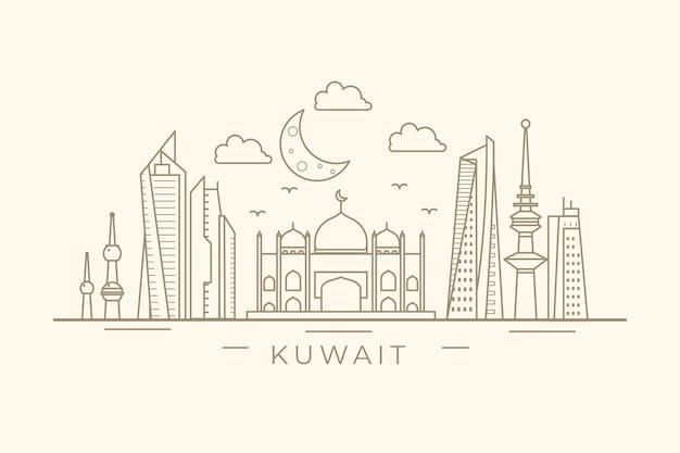 Linha do horizonte linear kuwait