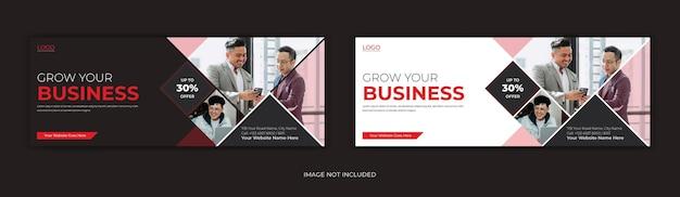 Linha do tempo da página de capa do facebook para negócios corporativos