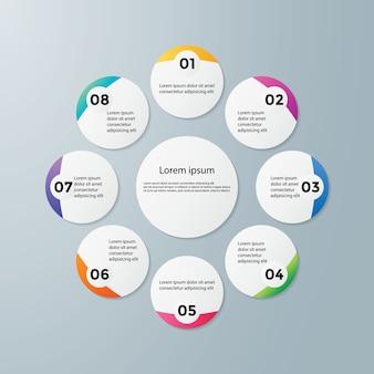 Linha do tempo infográficos design vector e marketing ícones