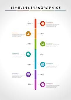 Linha do tempo infográficos e ícones vetor modelo de design.