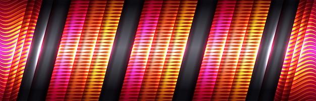 Linha dourada de design moderno de luxo com tons de rosa e vermelho