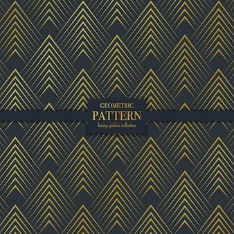 Linha dourada luxo abstrato geométrico de fundo