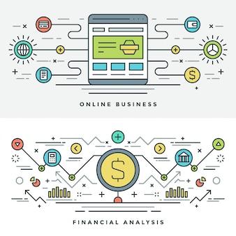 Linha fixa de compras e negócios na internet