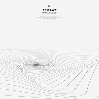 Linha geométrica abstrata de fundo de arte