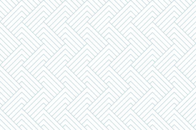Linha geométrica abstrata linha diagonal azul sem costura padrão