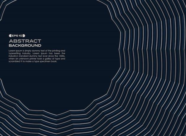 Linha geométrica azul escuro do ziguezague do fundo abstrato