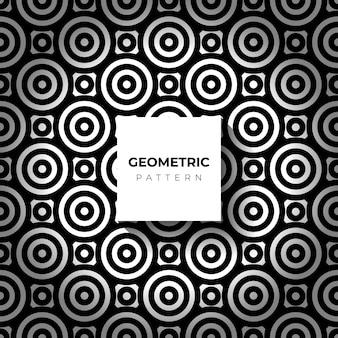 Linha geométrica padrão círculo linha preta sem costura abstrata