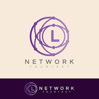 Linha inicial da rede l design do logotipo